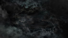 Czarne Dramatyczne chmury royalty ilustracja