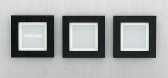 Czarne drewniane obrazek ramy Zdjęcia Royalty Free