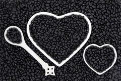 Czarne fasole Zdjęcia Royalty Free