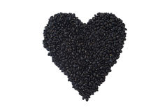 Czarne fasole: Kierowa Zdrowa odżywka obraz royalty free