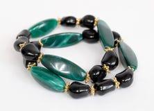 Czarne i Zielone bransoletki Obrazy Royalty Free