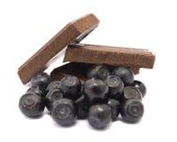 czarne jagody czekoladowe Zdjęcie Stock