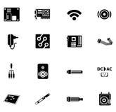 Czarne komputerowe ikony Ilustracja Wektor