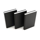 czarne książki Obraz Stock