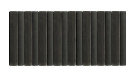 Czarne książki w rzędzie Obrazy Stock