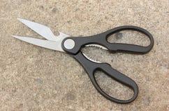 czarne nożyczki Obrazy Stock