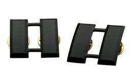 Czarne odznaki Zdjęcia Royalty Free