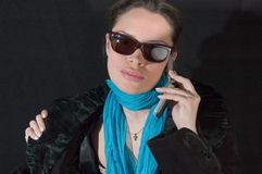 czarne okulary Obrazy Royalty Free