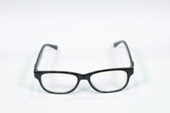 czarne okulary pojedynczy białe tło Obrazy Stock