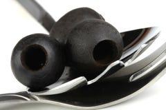 Czarne oliwki obrazy stock