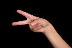 czarne palce odizolowane 2 Zdjęcia Stock