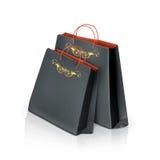 Czarne papierowe torby ilustracji