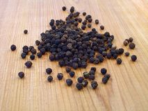 czarne peppercorns Zdjęcia Stock