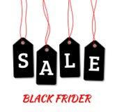 Czarne Piątek sprzedaży etykietki na białym tło wektorze Obrazy Royalty Free
