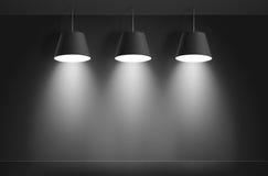 Czarne podsufitowe lampy wektor Zdjęcie Royalty Free