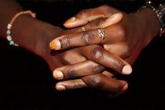Czarne ręki Obraz Royalty Free