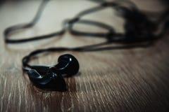 czarne słuchawki fotografia royalty free