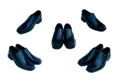 czarne skórzane buty Obrazy Royalty Free