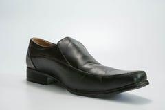 czarne skórzane buty Obraz Royalty Free