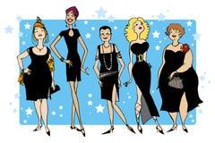 czarne suknie Zdjęcia Stock