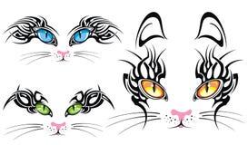 Czarne sylwetki koty Fotografia Stock