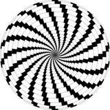 czarne sztuki op wiruje białe wiatraczki ilustracja wektor
