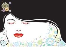 czarne włosy g - girl. Zdjęcie Stock