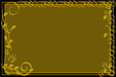 czarne złoto ornamentacyjny tła Obraz Royalty Free