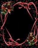 czarne zniżkę świątecznej wstążki Fotografia Royalty Free