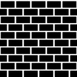 Czarnego ściana z cegieł bezszwowy wzór Prosty budynek Zdjęcia Royalty Free