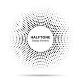 Czarnego abstrakcjonistycznego wektorowego okrąg ramy halftone kropek loga przypadkowy emblemat ilustracji