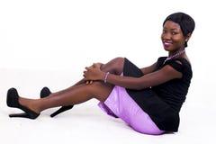 Czarnego Afrykanina amerykanina dama Zdjęcia Stock