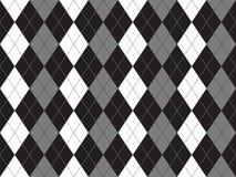 Czarnego białego szarego argyle tekstylny bezszwowy wzór Zdjęcia Royalty Free