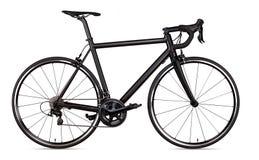 Czarnego bieżnego sporta drogowego roweru rowerowy setkarz odizolowywający fotografia stock