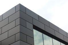 Czarnego budynku drapacza chmur pieniężny biurowy śródmieście Fotografia Stock