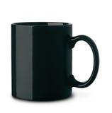 Czarnego ceramics kawowy kubek Zdjęcie Royalty Free