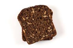 Czarnego chleba plasterek odizolowywający Obrazy Royalty Free