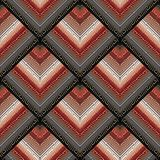 Czarnego czerwonego meanderu bezszwowy wzór z złocistymi grka klucza ornamentami Fotografia Stock