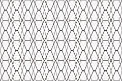 Czarnego diamentu siatka na białym abstrakcjonistycznym tle Obrazy Stock