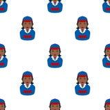 Czarnego Doręczeniowego dziewczyny Avatar Bezszwowy wzór Obraz Stock