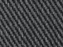 Czarnego drelichowego cajg tkaniny zbliżenia tekstury makro- tło tupocze Zdjęcia Stock