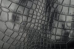 Czarnego gada rzemienna tekstura dla z tłem Zdjęcia Stock