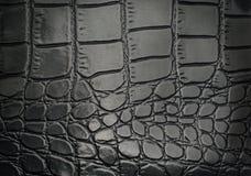 Czarnego gada rzemienna tekstura dla z tłem Obraz Stock