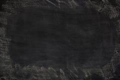 Czarnego grunge brudna tekstura z copyspace Abstrakt kreda nacierał za blackboard lub chalkboard tle na Tapeta z pustym fotografia royalty free