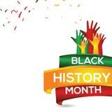 Czarnego historia miesiąca szablonu projekta Wektorowa ilustracja ilustracja wektor
