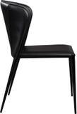 Czarnego koloru biurowy rzemienny krzesło Nowożytny projektanta krzesło dla wnętrza Odizolowywający na bielu Zdjęcie Royalty Free