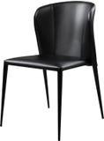 Czarnego koloru biurowy rzemienny krzesło Nowożytny projektanta krzesło dla wnętrza Odizolowywający na bielu Obraz Royalty Free