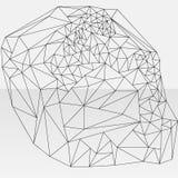 Czarnego konturu abstrakcjonistyczny geometryczny projekt Obrazy Royalty Free