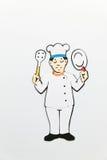 czarnego kucharza ilustracyjnego symbolu white wektor prosto Zdjęcia Stock