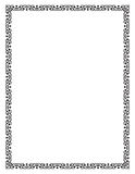 Czarnego kwadrata rama, geometryczni kształty Listowy rozmiar Fotografia Royalty Free